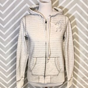 American Eagle Outfitters Gray Zippered Hoodie